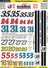 MG6420-2 1/24 High Def UltraCal Decals Vintage Racing Numbers Style 2