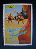 Filmplakatkarte videoplus  Atemloser Sommer   C. Thomas Howell, Peter Horton