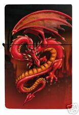 Red Dragon Fire Element Metal Refillable Lighter