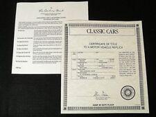 DANBURY MINT PAPERWORK SET - 1953 BUICK SKYLARK CONVERTIBLE - BLUE