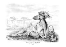 Ray Leaning < Ebor Festival > York England Limited Signed Giclee 2/50 Art 17X25