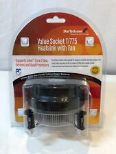 StarTech 95mm Socket T 775 CPU Cooler Fan w/ Heatsink Cooling FAN775E (Black)