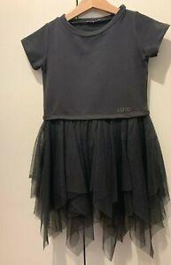 LIU-JO, vestito bambina, grigio scuro tg. 4/5 anni, cm 104, come Polo Ralph
