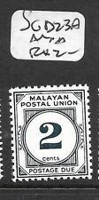 MALAYA  MPU   (P2403B) POSTAGE DUE 2C  SG D23A   MNH