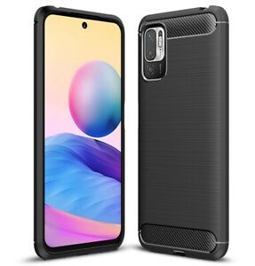 Funda Gel Tpu Tipo Carbon Negra para Xiaomi Redmi Note 10 5G / POCO M3 Pro 5G
