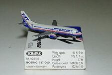 Schabak Boeing 737-3b7 appareils Company avec Argent roues en 1 600 Echelle