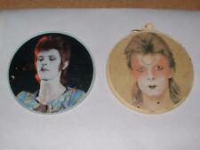 Rare Vintage 1973 ANABAS David Bowie Ziggy Fan Club Memorabilia Promo Pin Badges