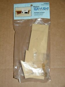 Vintage Mini Wood Heart 6 Piece Shelf Craft Kit by Wang International 6in Mint