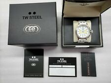 TW STEEL CEO CALIFORNIA CHRONOGRAPH DATE WHITE LEATHER UNISEX WATCH CE1043 NEW