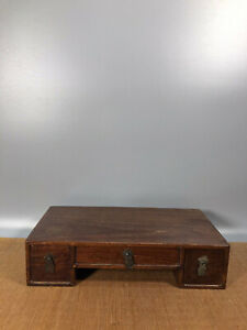 13.2'' Chinese Antique Wood table natural Yellow rosewood Small table