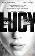 Lucy DOUBLE SIDED ORIGINAL MOVIE POSTER Scarlett Johansson Luc Besson Superhero