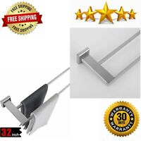 Double Bath Towel Bar 30 Inch Stainless Steel Towel Rack Bathroom Towel Holder