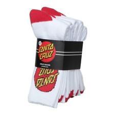 Santa Cruz Socks 4 Pairs White