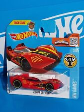 Hot Wheels 2016 HW Games Series #237 Scoopa Di Fuego Red w/ PR5s On Short Card