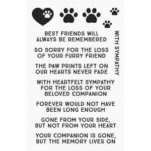 """My Favorite Things Clear Stamps 4""""X6"""" - Critter Condolences"""