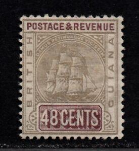 $Brit. Guiana Sc#144a M/H/F-VF, grey+purple brown, Cv. $60