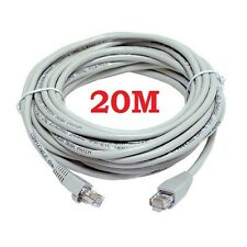 20M CAT5e RJ45 ETHERNET LAN NETWORK INTERNET PATCH LEAD CABLE SKY HD CONSOLE
