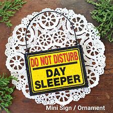 DECO Mini Sign DO NOT DISTURB Day Sleeper Fits over Door Knob night worker swing