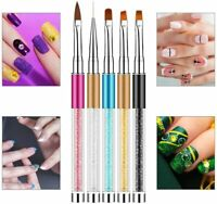 Acrylic Nail Art Pen Brush Painting Dotting Liner Manicure UV GEL Tool DIY UK