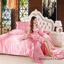 Satin Silk Luxury Super Soft Bedding Collection Duvet Cover Set King Queen Size