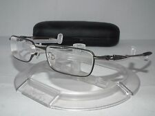 OAKLEY DRILL BIT Eyeglasses RX FRAME 22-212 Pewter 50mm with Case