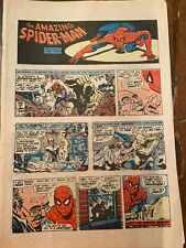 The Amazing Spider-Man Sunday Newspaper Comic Strip March 29 1981-March 28 1982