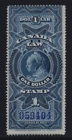 Canada VD #FSC11 (1897) $1 blue Victoria SUPREME COURT Law Stamp Revenue Used