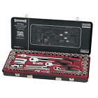 """Sidchrome 64 piece 1/4"""", 3/8"""",1/2"""" Drive Socket Set limited edition black kit"""
