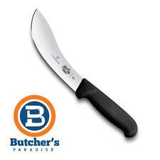 "BUTCHER'S 5"" VICTORINOX BLACK SKINNING KNIFE -SWISS MADE"