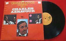 CHARLES AZNAVOUR **Grandes Exitos En Español Vol. 2** 1979 Barclay LP Venezuela