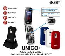 SAIET UNICO+ Amplificato Audio +25dB SOS M4/T4 Radio Foto Bluetooth Torcia BIANC