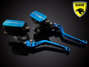 Blue Clutch Brake Levers Master Cylinder Reservoir Kit for Honda Suzuki Yamaha