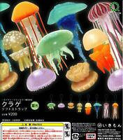 Ikimon jellyfish soft strap Luminous light Gashapon 8 set strap capsule toys