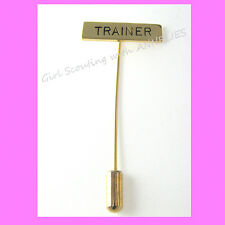 TRAINER, Girl Scout Adult STICK PIN, EUC Leader Appreciation GIFT Combine Ship