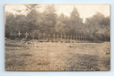 ANTIQUE Vintage WW1 GERMAN Real Photo RPPC Postcard DEAD SOLDIERS / Many Graves