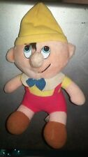 "Pinocchio Plush Doll Walt Disney Productions Canasca Trading Corp 10"" Stuffed"