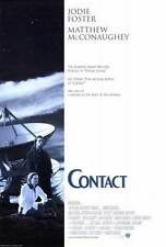 CONTACT Movie POSTER 27x40 B Jodie Foster Matthew McConaughey James Woods Tom