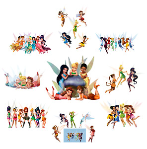 TINKERBELL DISNEY FAIRIES PETER PAN FAIRY CHARACTERS  LOT OF STICKER WALL DECAL