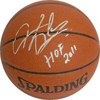 Dennis Rodman signed I/O Basketball HOF 2011 insc - Schwartz Hologram