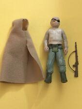 Vintage 1984 Star Wars Prune Face Action Figure Complete w/Cloak & Brown Rifle