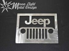 Jeep Brushed Steel Metal Logo wall art Car Wall Decor 2