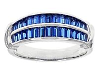 Sz 5-Bella Luce 2.10ctw Blue Sapphire Simulant Rhodium over Sterling Silver Ring