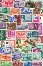 LOT OF 50 VINTAGE ALL DIFFERENT MINT U.S. POSTAGE STAMPS-ALL MINT NEVER HINGED