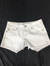 Miss Me Easy Mid-rise white embellished shorts - NWOT - size 28- sparkly Jewels
