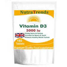 Vitamin D3 5000iu (180) Tablets Double Strength Bones,Immune System
