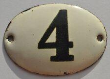 1900s Imperial Russia Apartment Flat Door Hot Enamel Number Sign #4 ref.2