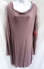 ASOS Womens Purple Lavender Boat Neck Long Sleeve Mini Shirt Dress UK 12 US 8 L