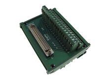 DB37 Male Signals Breakout Board Din Rail Mounting Header Screw terminals