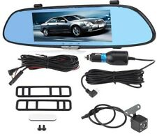 7inch 1080P 170° Wide Angle HD Car DVR Dual Lens Camera Rear View Mirror Driving