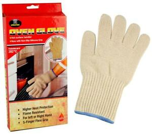 1/2 Pairs Oven Gloves Mitts Hand Kitchen Cooking Baking Heat Resistant Cotton